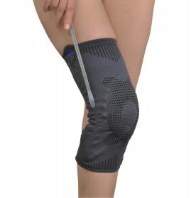 ligament ve patella destekli (fleksible balenli ) dizlik (örgü kumaş)
