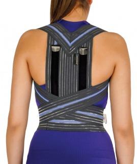 postureks korse/omuz retraksiyon harnesi füme (misineli kumaş) bedensiz
