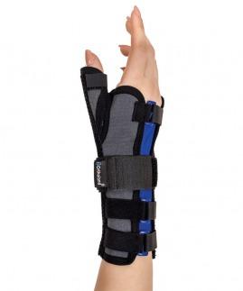 statik başparmak destekli el bilek splinti füme