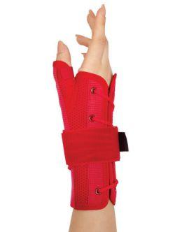 statik başparmak destekli el bilek splinti kırmızı bedensiz (airtex kumaş)