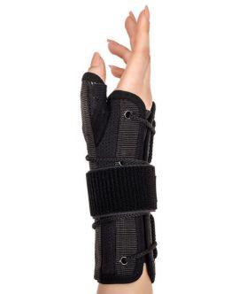 statik başparmak destekli el bilek splinti siyah bedensiz (airtex kumaş)