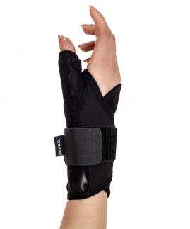 statik başparmak destekli el bilek splinti siyah bedensiz (koton kumaş)