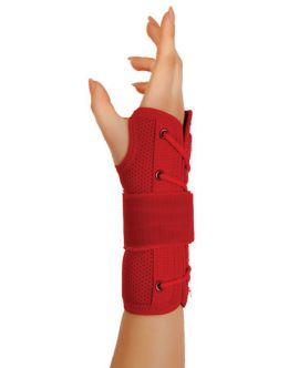 statik el bilek splinti kırmızı bedensiz (airtex kumaş)